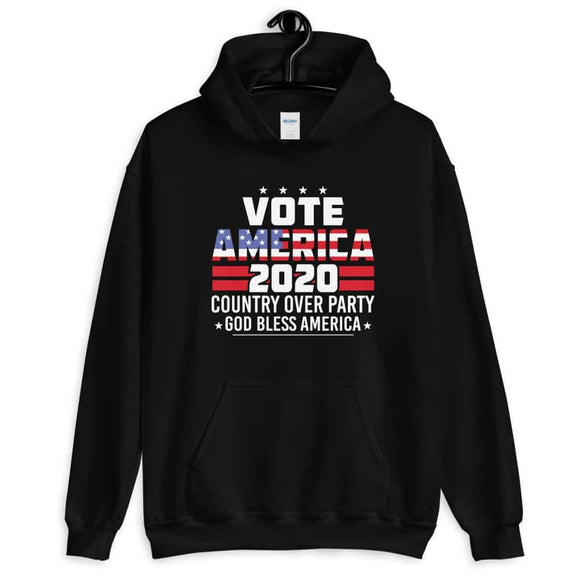 Vote America 2020 Country Over Party God Bless America