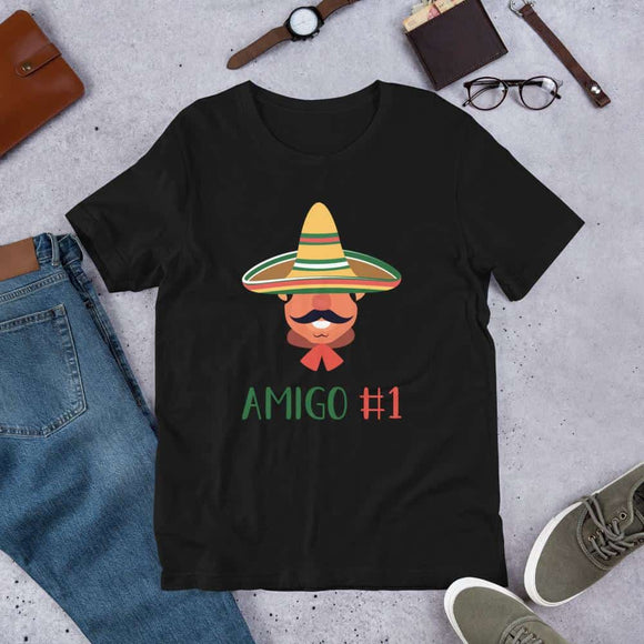 Womens Funny Mexican Amigo # Short-Sleeve Unisex T-Shirt -