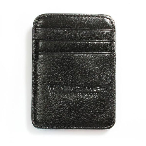 Black Leather Wallet - Money Clamp - www.MoneyClamp.com