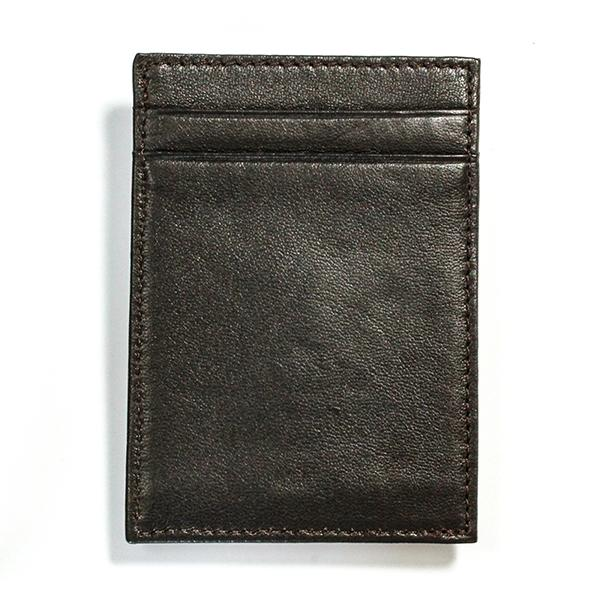 Cabretta Brown Leather Wallet with Extra Capacity - Promo - Money Clamp - www.MoneyClamp.com