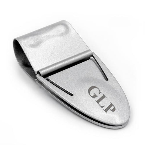 Mini Geneva Cash Clamp® - Silver Titanium - With Wallet - Money Clamp - www.MoneyClamp.com