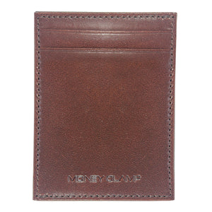 Italian Brown Leather Wallet with Extra Capacity - Money Clamp - www.MoneyClamp.com