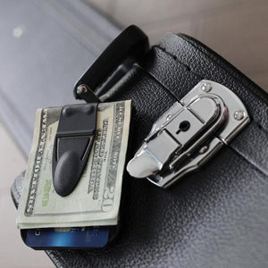 Mini Geneva Cash Clamp® - Black Matte with Wallet - Money Clamp - www.MoneyClamp.com