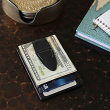 Load image into Gallery viewer, Mini Geneva Cash Clamp® - Black Matte with Wallet - Money Clamp - www.MoneyClamp.com