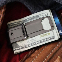 Load image into Gallery viewer, Munich Satin Black - NO WALLET - Oops - Money Clamp - www.MoneyClamp.com