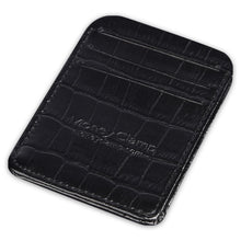 Load image into Gallery viewer, Congo Crocodile Black Leather RFID Wallet - Money Clamp - www.MoneyClamp.com