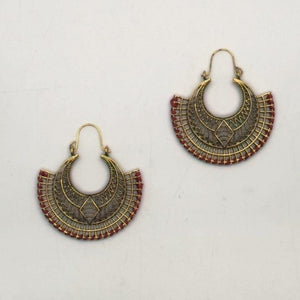 Load image into Gallery viewer, Aztec Diamond Earrings