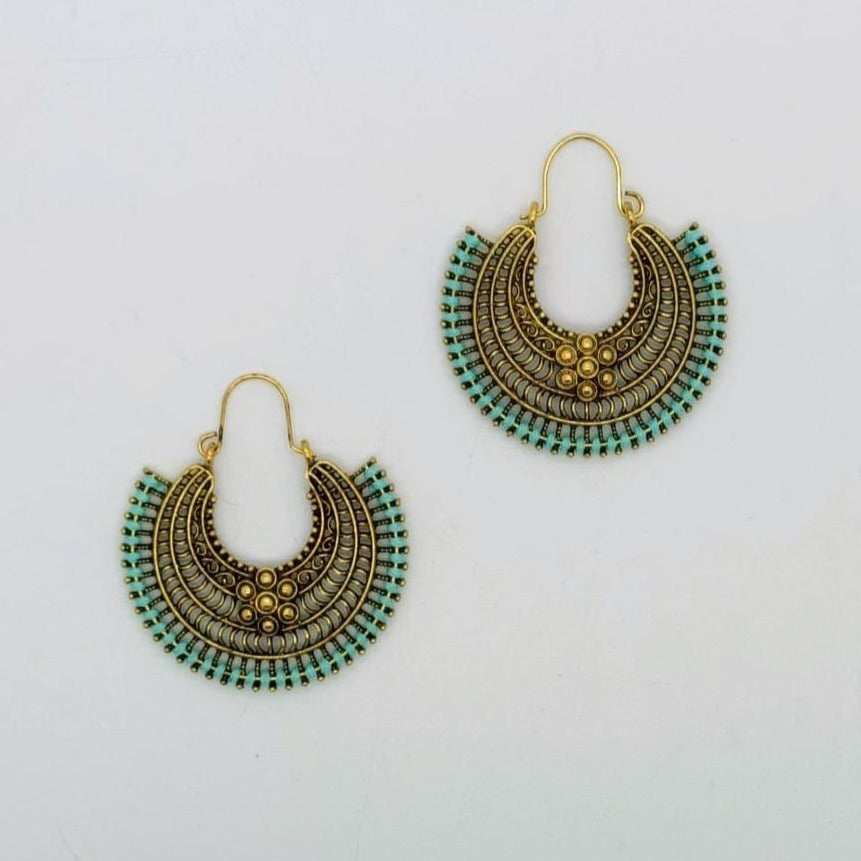 Aztec Flower Earrings
