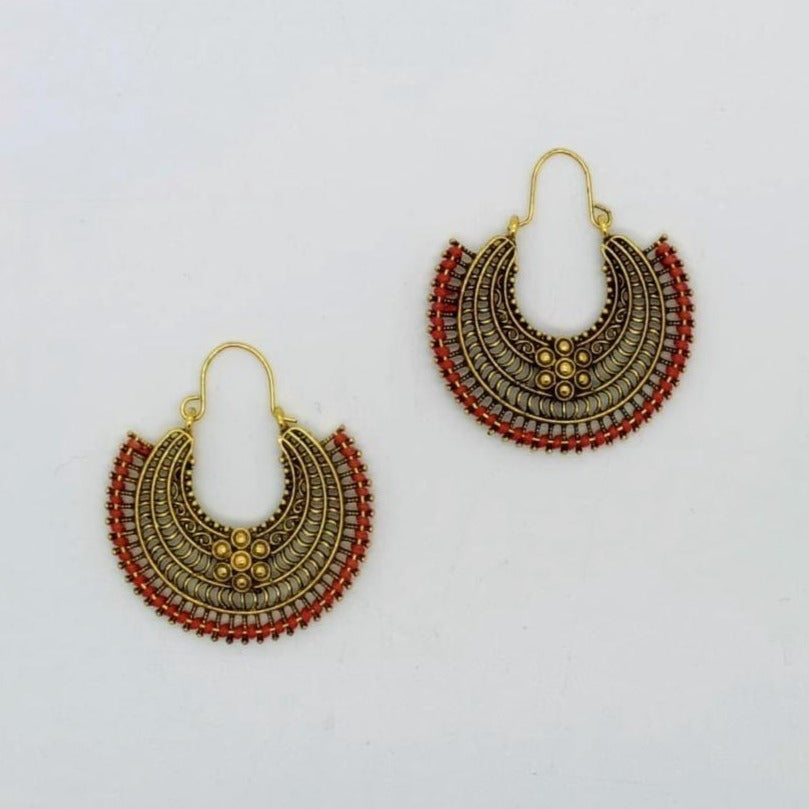 Load image into Gallery viewer, Aztec Flower Earrings