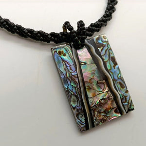 Load image into Gallery viewer, Paua Rectangle Necklace