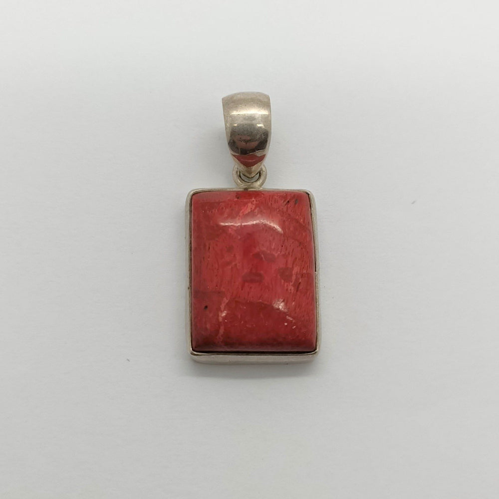 Rectangle Coral Pendant