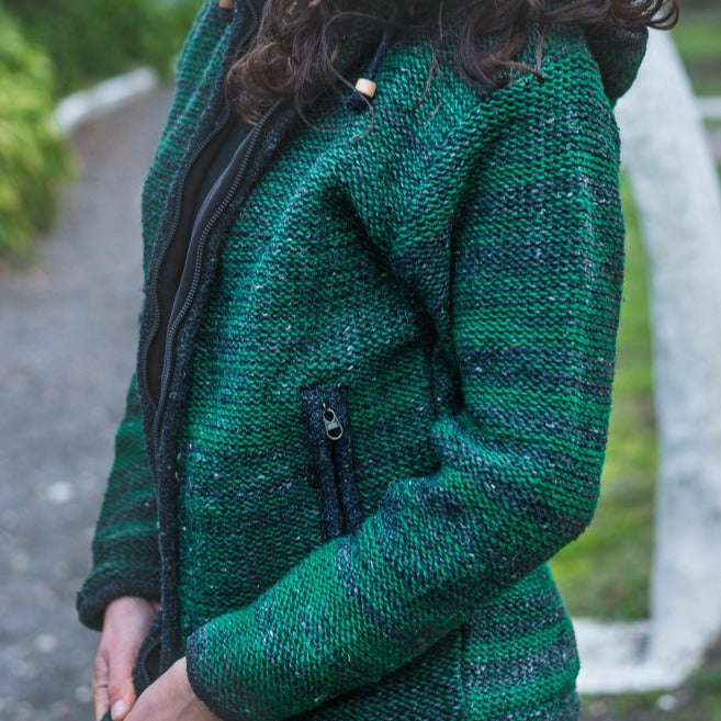 Load image into Gallery viewer, UNISEX GREEN WOOL JACKET