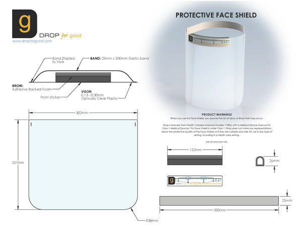 DROP Face Shield Individual