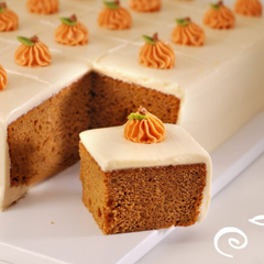 Pumpkin Spice Cake with Maple Cream Cheese Icing