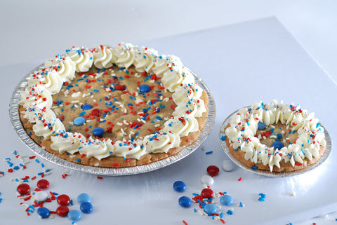 Patriotic Cookie Dough Pies from Poppie's Dough | Fourth of July Fun!