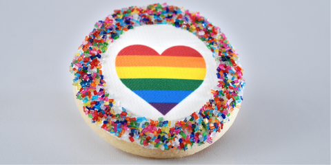 Pride Month Rainbow Heart Cookie from Poppie's Dough