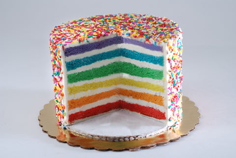 Rainbow Pride Month Cake from Poppie's Dough