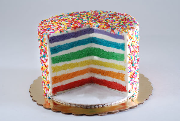 Pride Rainbow Cake from Poppie's Dough | Woman Owned Sweet Bakery in Chicago, IL