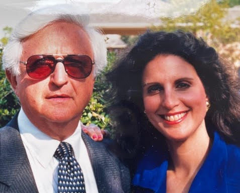 Ronnie Himmel (right) with her father, Poppie (left)