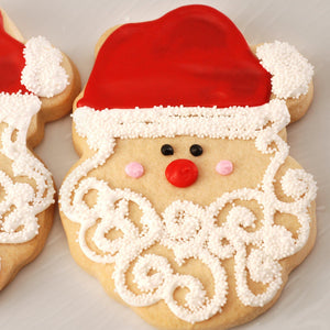 Holiday Santa Cut-Out Cookie Gift Set (12 Pieces)
