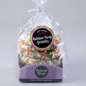 Rainbow Party Sprinkle Cookie Package, Soft Baked (5 Pack)