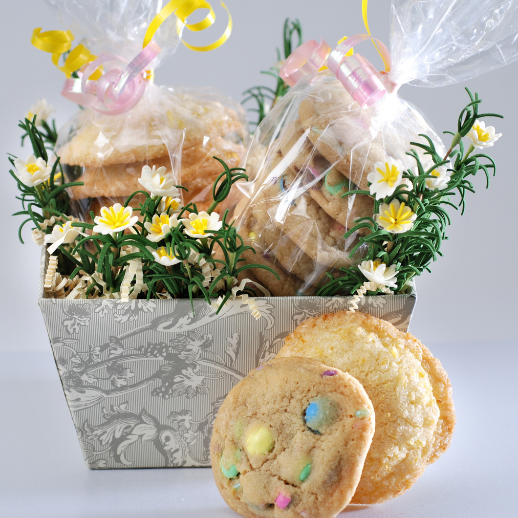 Spring Cookie Sampler Basket (14 Pieces)