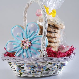 Spring Flower Cookie Basket (8 Pieces)