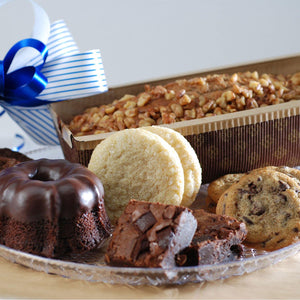 Fresh Baked Brownie & Banana Bread Basket - Poppie's Dough