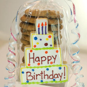 Happy Birthday Chocolate Chip Cookie Stack (13 count)