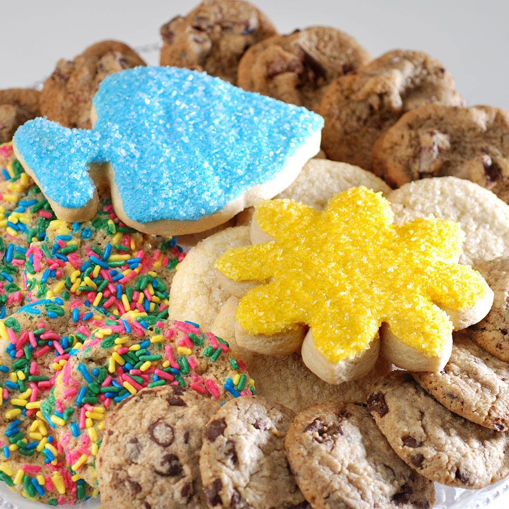 Summer Beach Assorted Gourmet Cookie Tray (26 Cookies)