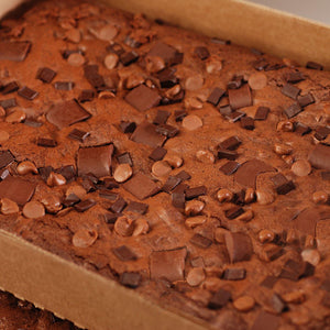 Gourmet Triple Chocolate Chip Sheet Brownies - 4 Pack Case