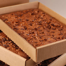 Load image into Gallery viewer, Gourmet Triple Chocolate Chip Sheet Brownies - 4 Pack Case