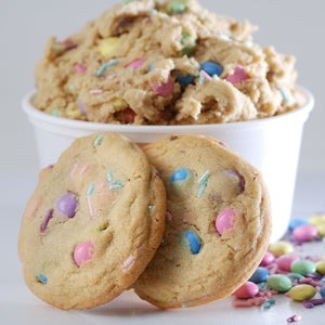 Spring Candy Sprinkle Cookies from Poppie's Dough  | Mother's Day Celebration Cookie Basket