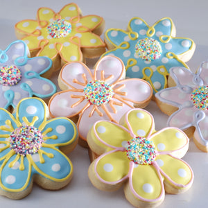 Spring Flower Cut-Out Cookies | Mother's Day Celebration Cookie Basket