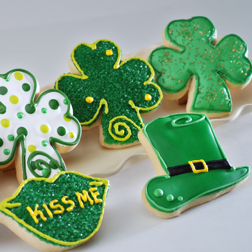 Poppie's Dough St. Patrick's Day Gifts Delivered Nationwide, Fresh Baked in Chicago, Shamrock Cookies, Leprechaun Cookies, St. Patrick's Day Gift Baskets, St. Pattys day gift
