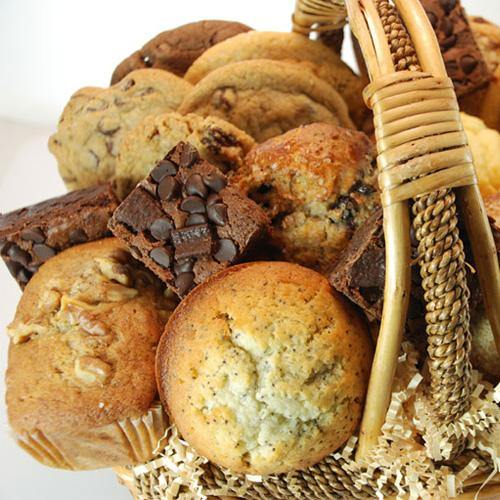 Fresh Baked Muffin, Cookie, Brownie, and Scone Basket (19 Pieces) - Poppie's Dough