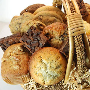 Fresh Baked Muffin, Cookie, Brownie, and Scone Basket (19 Pieces)
