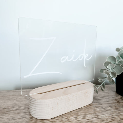 Personalised LED Night Lights - Name Only
