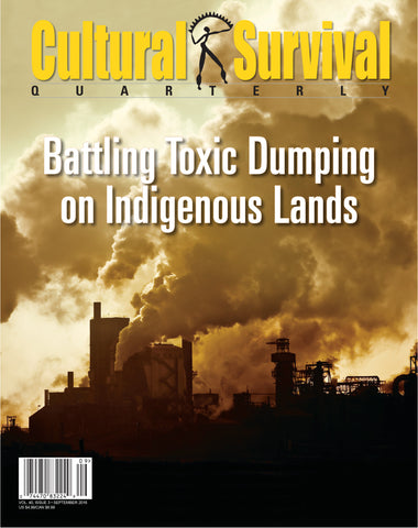 CSQ 40-3 (September 2016):  Battling Toxic Dumping on Indigenous Lands