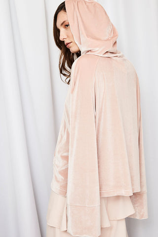 Shop House Of Sunny Hoodie House Of Sunny Spur Velour Hood In Baby Second Thread