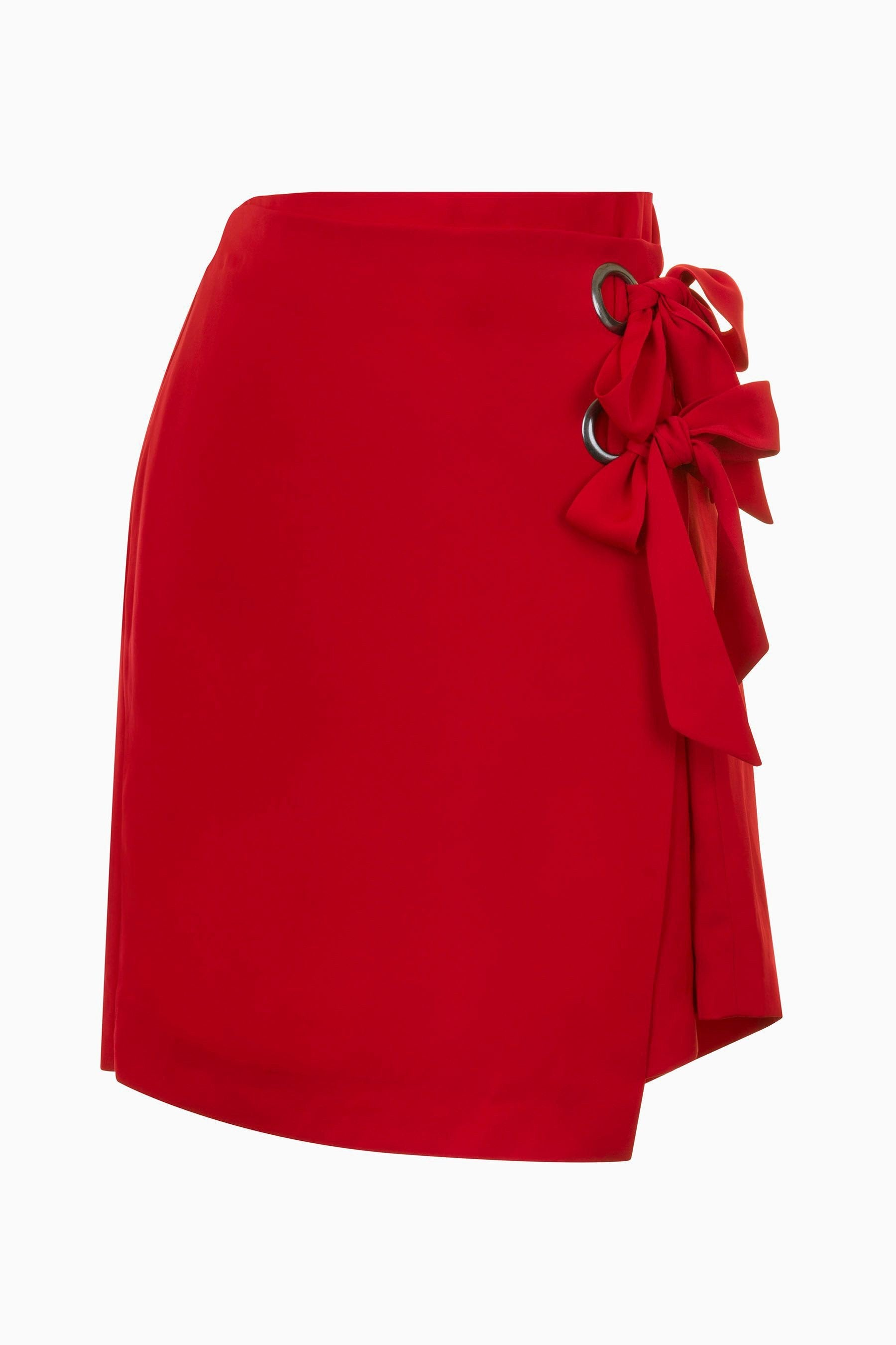 Shop Neon Rose Skirt Neon Rose Red Wrap Eyelet Mini Skirt Second Thread