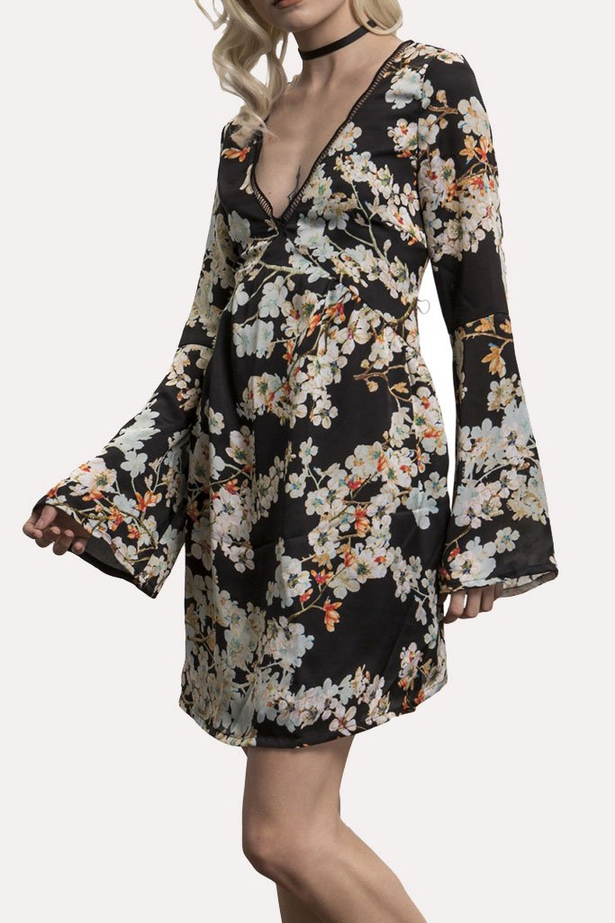 Wyldr Show Me The Way Flower Printed Tea Dress