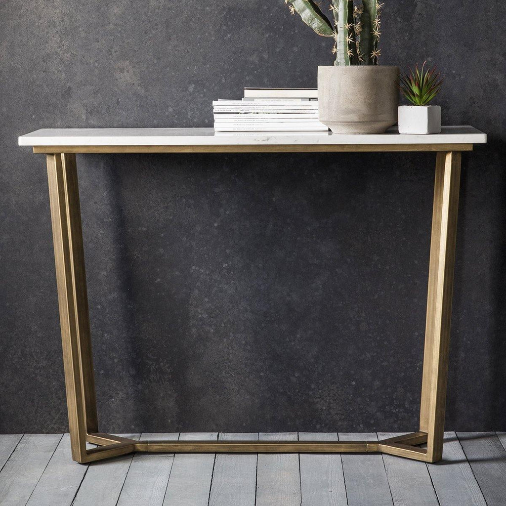 Adele Console Table Marble - Joal Interiors