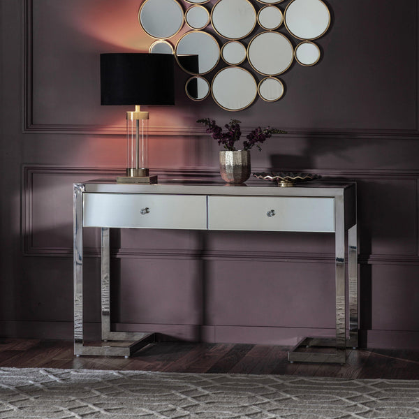 Amara 2 Drawer Mirrored Console - Joal Interiors