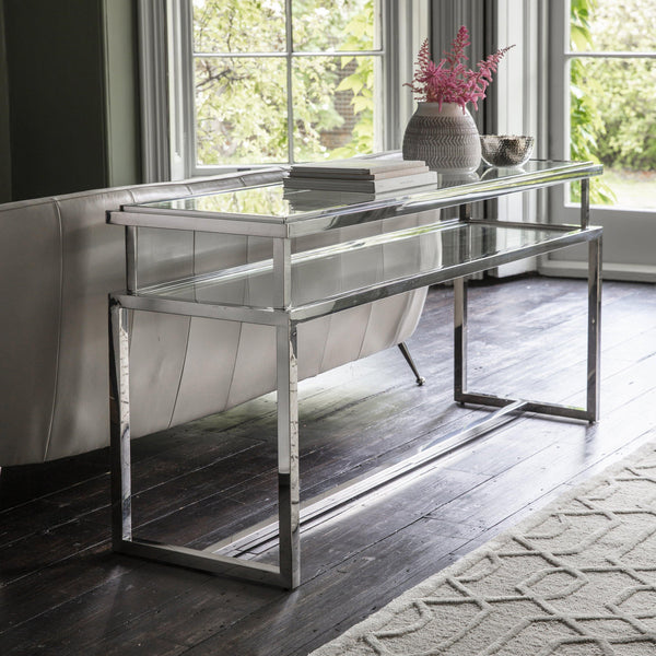Cora Console Table Silver - Joal Interiors