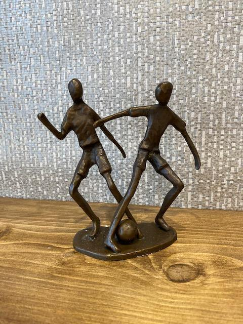 Solid Bronze Footballers - Joal Interiors