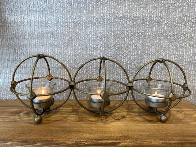 Gold Wire Sphere Candle Holder - Joal Interiors