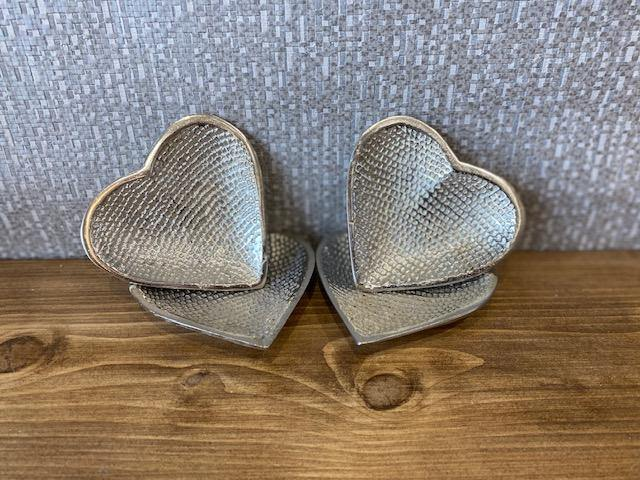 Mini Silver Heart Trinket Dishes - Joal Interiors