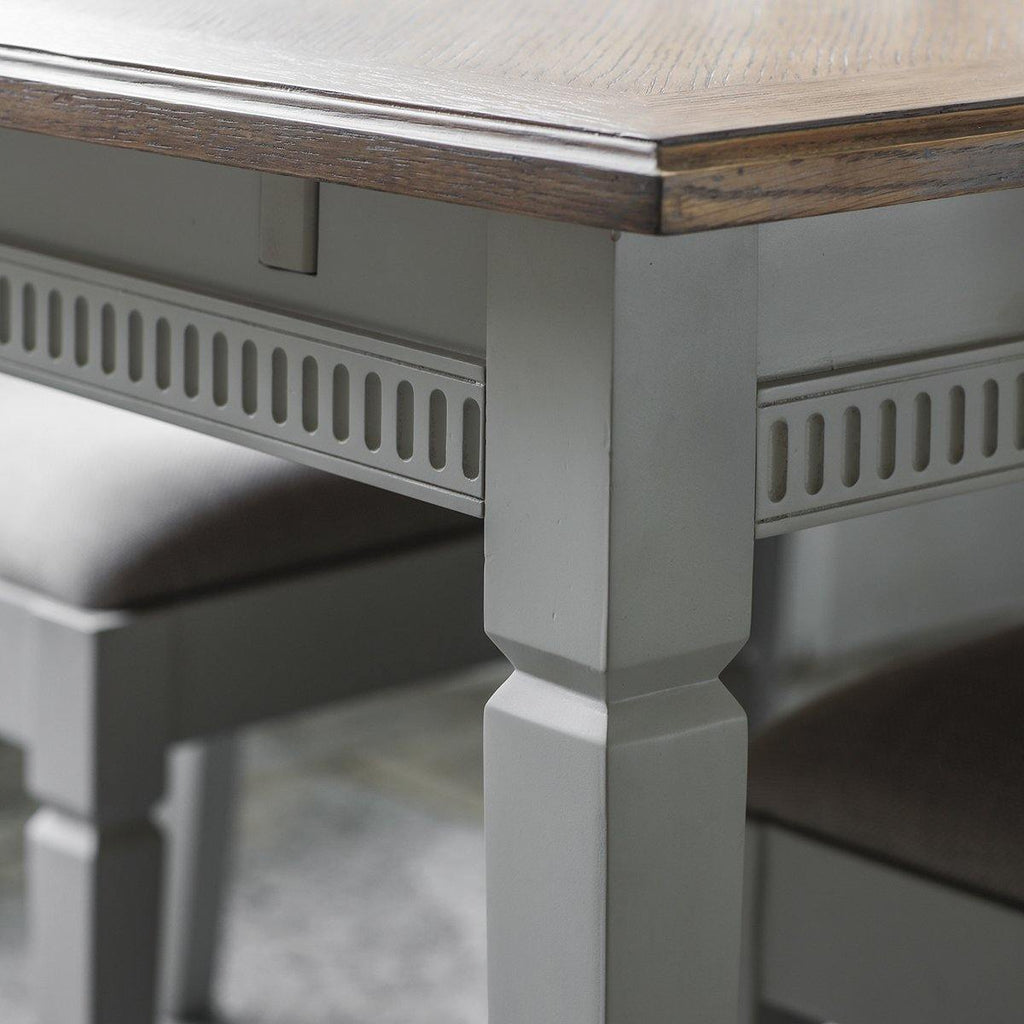 Natalie Extending Dining Table Taupe - Joal Interiors