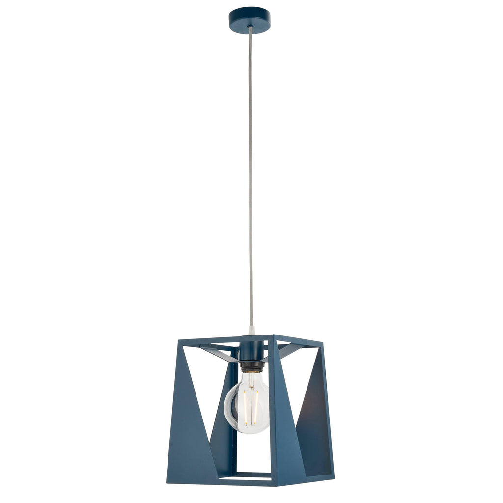 Odell Pendant Light Matt Ink Blue - Joal Interiors